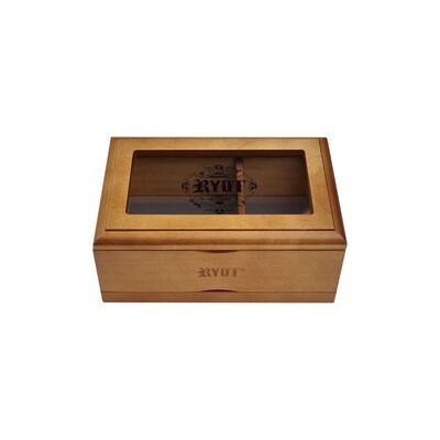 קופסת איחסון עם רשת סינון חלון הצצה במגוון גדלים RYOT