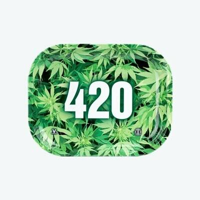 V-Syndicate 420 GREEN METAL מגש גלגול מתכתי קטן\בנוני\גדול דגם