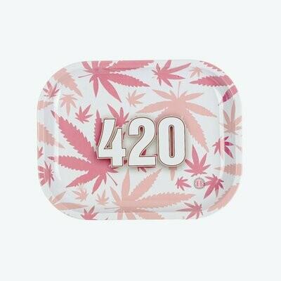 V Syndicate 420 Pink Metal מגש גלגול מתכתי קטן\בנוני דגם
