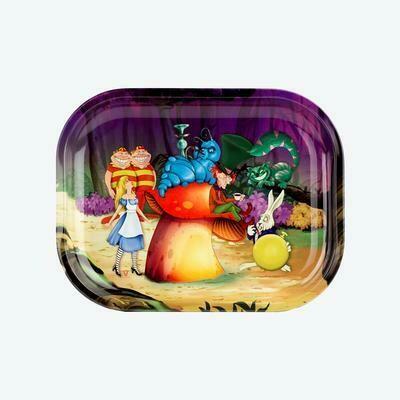 V Syndicate Alice Mushroom מגש גלגול מתכתי קטן\בנוני דגם