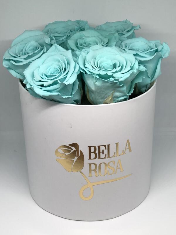 Caja redonda, disponible en blanca, negra o rosada