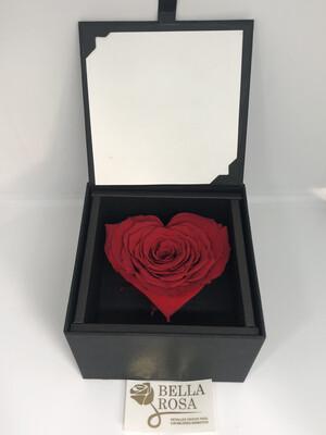 Caja elegante con rosa natural preservada