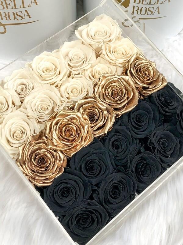 Caja Primium con 25 rosas preservadas