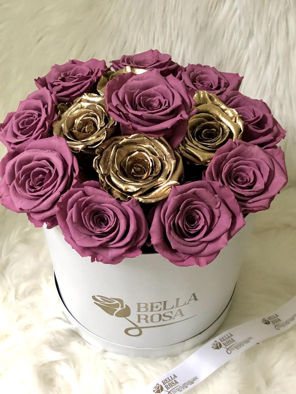 Caja con 15 rosas preservadas