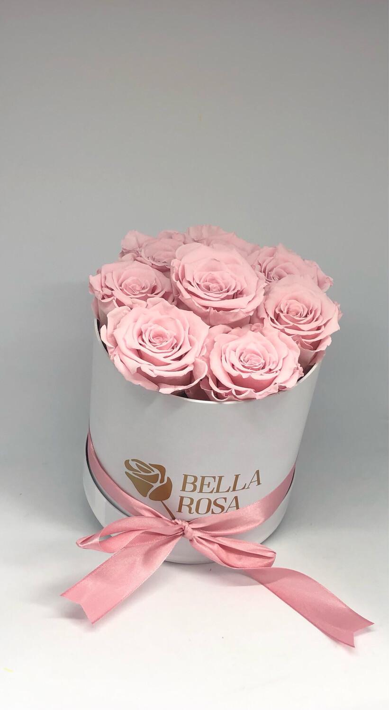 Caja con 7 rosas