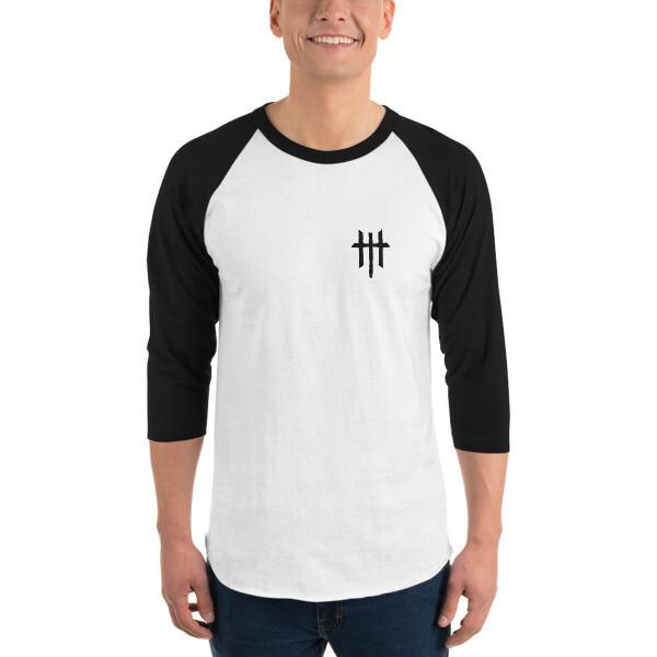 Emblem 3/4 sleeve raglan shirt