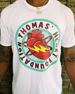 Thomas Heart Full Shirt Logo - White