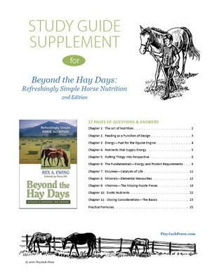 Study Guide Supplement for Beyond the Hay Days book