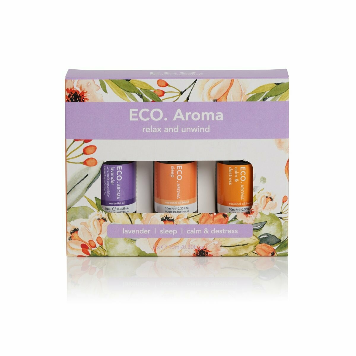ECO. Relax and Unwind Trio (Lavender, Sleep, Calm & Destress)