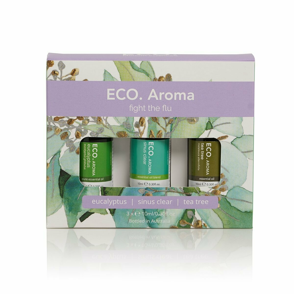 ECO. Fight the Flu Aroma Trio (Eucalyptus, Sinus Clear, Tea Tree)