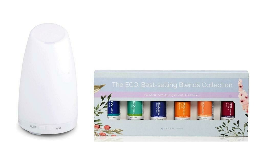 Serene Diffuser & ECO. Best Selling Blends Starter Pack