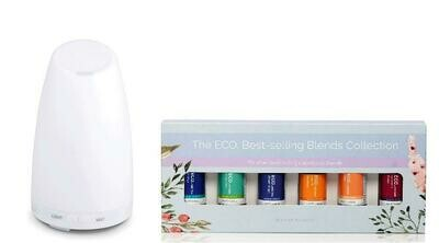 Serene Diffuser & ECO. Best Selling Blends Starter Pack