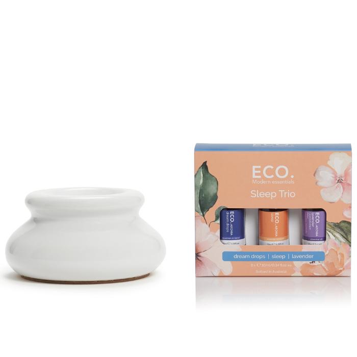 Arctic White Ceramic Vaporiser & ECO. Sleep Trio