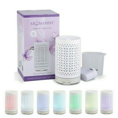 Mistique Ceramic Mist Diffuser + FREE Oils Trio Pack