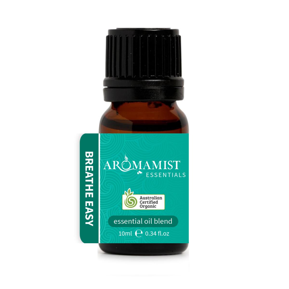 Breathe Easy Essential Oil Blend 10ml - Certified Organic