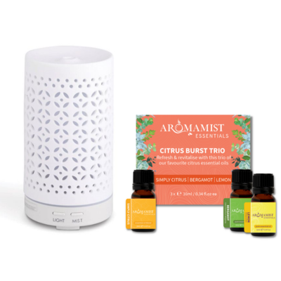 Mistique Diffuser & Citrus Burst Blends Starter Pack