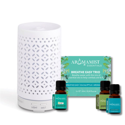 Mistique Diffuser & Breathe Easy Trio