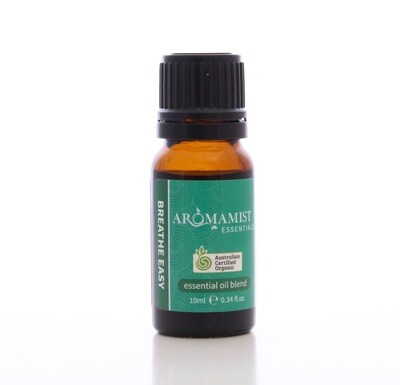 Breathe Easy Essential Oil Blend 10ml - Certified Organic