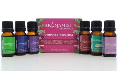 Aromamist Favourite Essential Oils & Blends (6 Pack)