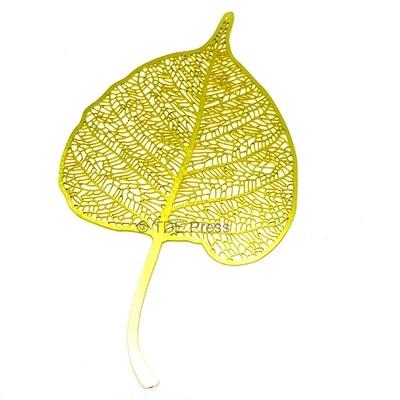 Golden Bodhi Leaf Bookmark 2