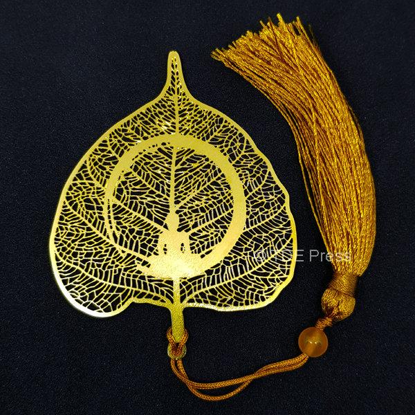 Golden Bodhi Leaf Bookmark 1