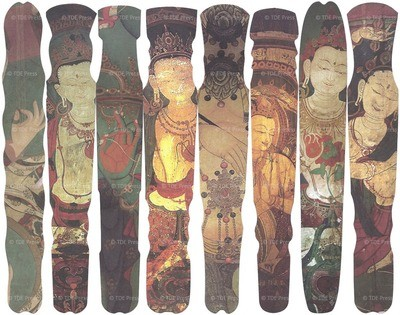 Mural Paintings of Buddhas & Bodhisttvas Bookmarks