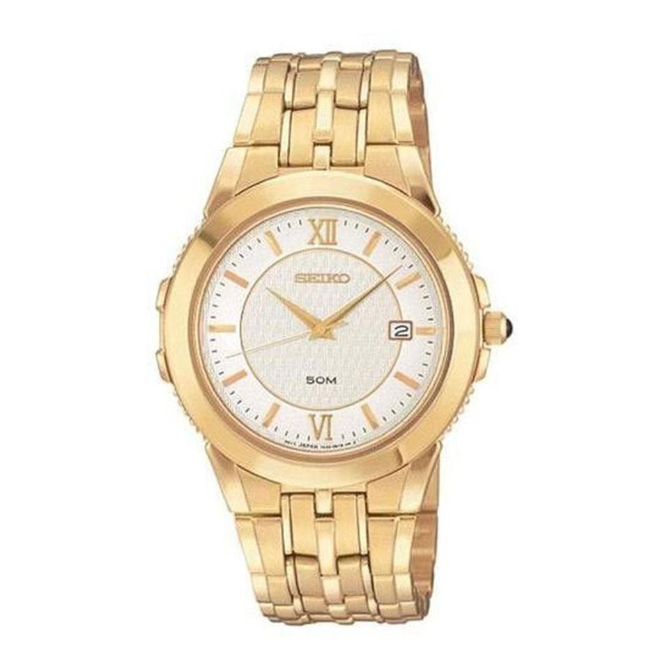 Seiko SKK692 Gents Quartz Gold Plated Watch