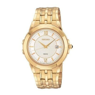 Seiko SKK692 Gents Quartz Gold Plated Watch