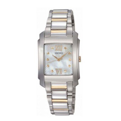 Seiko SRZ367P1 Ladies Quartz Two-Colour Bracelet Watch