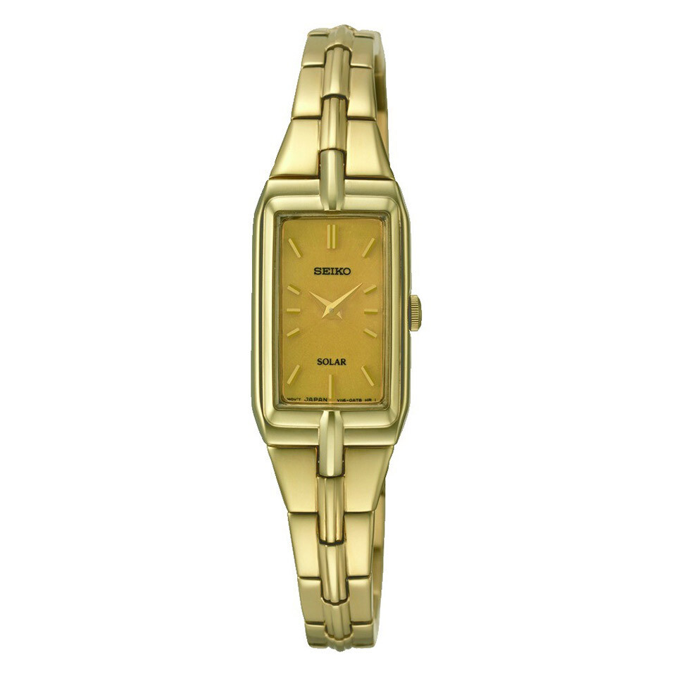 Seiko SUP276P9 Ladies Solar Quartz Plated Watch