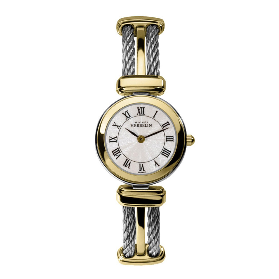 Ladies Michel Herbelin Bi-Colour Stainless Steel Bracelet Watch