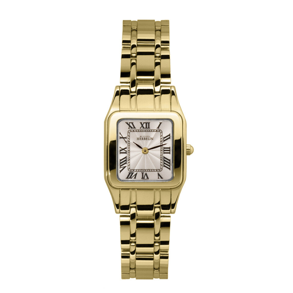 Ladies Michel Herbelin Luna gold plated bracelet watch