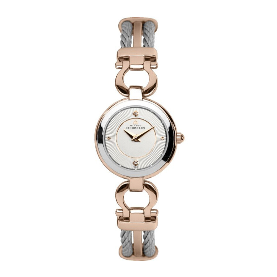 Ladies Michel Herbelin Two Colour Cable Watch