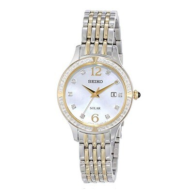 Seiko SUT092 Ladies Solar Quartz Bi-Colour Bracelet Watch