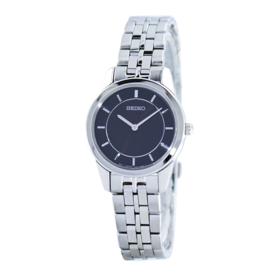 Ladies Seiko stainless steel watch SFQ825P1
