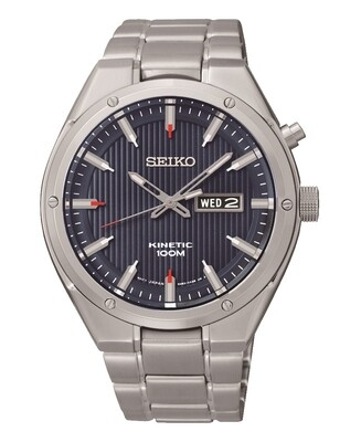 Seiko SMY149P1 Gents Stainless Steel Kinetic Watch