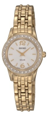 Seiko SUP128P9 Ladies Solar Quartz Gold Plated Watch
