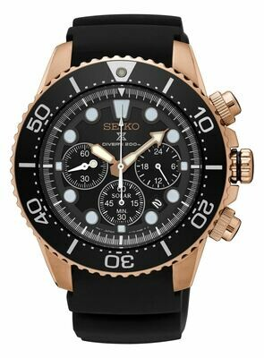 Seiko SSC618P1 Gents Solar Quartz Chronograph Watch