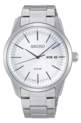 Seiko SNE523P1 Gents Solar Quartz Stainless Steel Watch