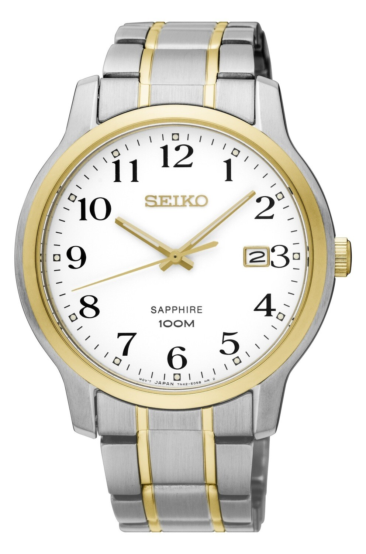 Seiko SGEH68P1 Gents Two Colour Quartz Watch with Calendar