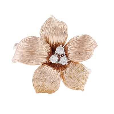 Exclusive Rose Gold Diamond Lily Ring
