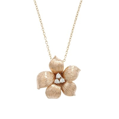 Exclusive Rose Gold Diamond Lily Pendant
