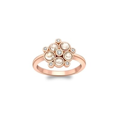 Stunning Rose Gold Diamond And Moonstone Bubble Ring