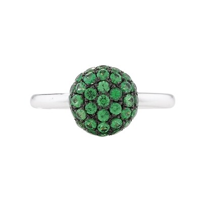 Exclusive White Gold Tsavorite Ball Ring
