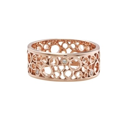 Luxury Rose Gold Diamond Ring