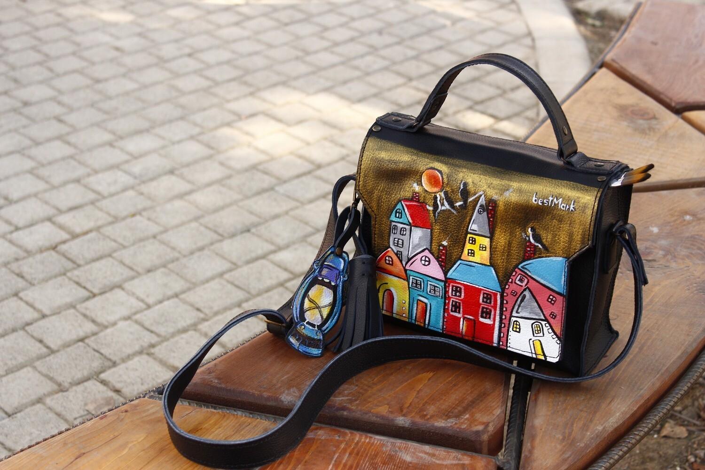 ჩანთა 26x20x10 სმ - Leather Messenger Bag