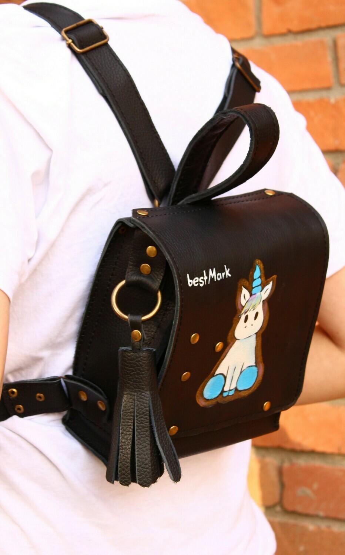 ზურგჩანთა 18x20x8 სმ - Leather Backpack