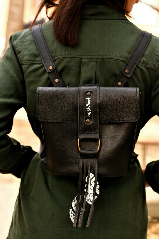 ზურგჩანთა 20x18x12 სმ - Leather Backpack