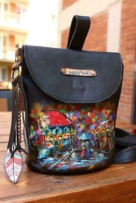 ზურგჩანთა 26x25x19 სმ - Leather Backpack