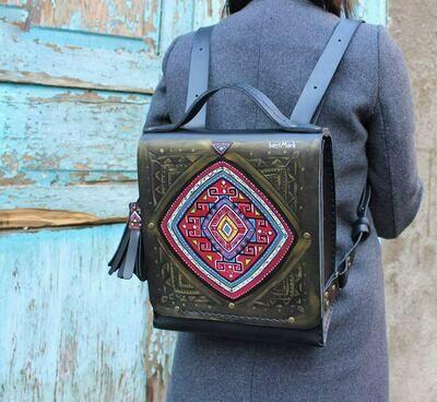 ზურგჩანთა 26x28x10 სმ - Leather Backpack
